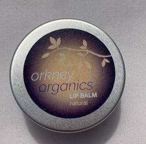 Aluminium tin of Orkney Organics, Organic natural, unfragranced lip balm
