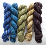 Manos del Uruguay, 4ply, silk blend Fino mini skein set. Set 7 Georgiana