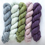 Manos del Uruguay, 4ply, silk blend Fino mini skein set. Set 11 Lydia