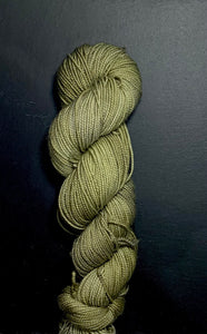 GREEN NILD - Hand dyed, 4ply high twist merino, 50g