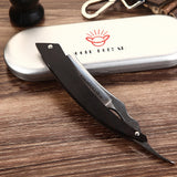 High Carbon Steel Folding Safety Straight Barber Razor