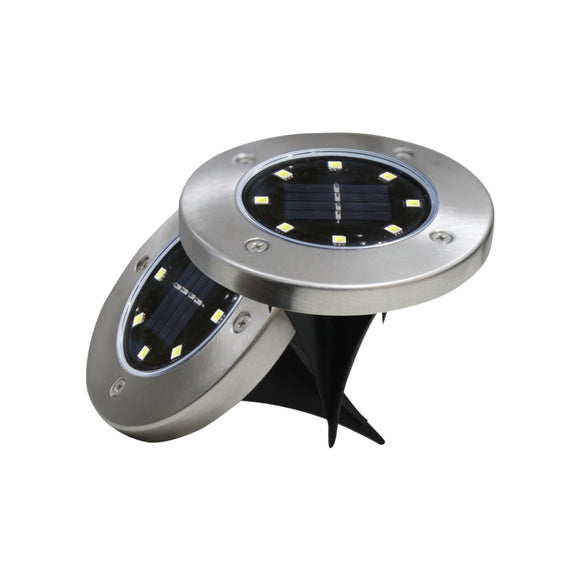 8-LED Solar Power Buried Light for Garden