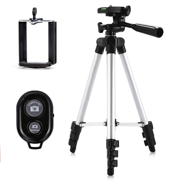 Portable Lightweight Mini Selfie Tripod Stand With Remote Control - Trendeinblick Inc