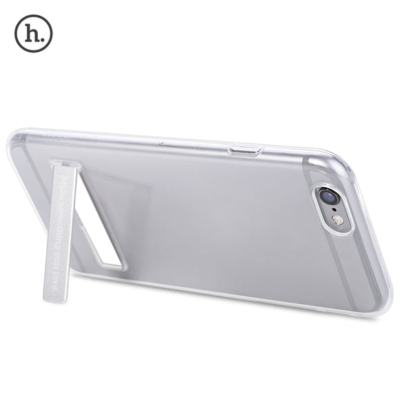 4.7 Inch Transparent Phone Cover Magnetic Stand Protective Case for iPhone 6 / 6S