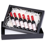 6pcs Wine Bottle Design Waterproof Long Lasting Stained Glaze Liquid Lip Gloss