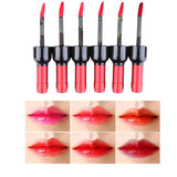 6pcs Wine Bottle Design Waterproof Long Lasting Stained Glaze Liquid Lip Gloss - Trendeinblick Inc