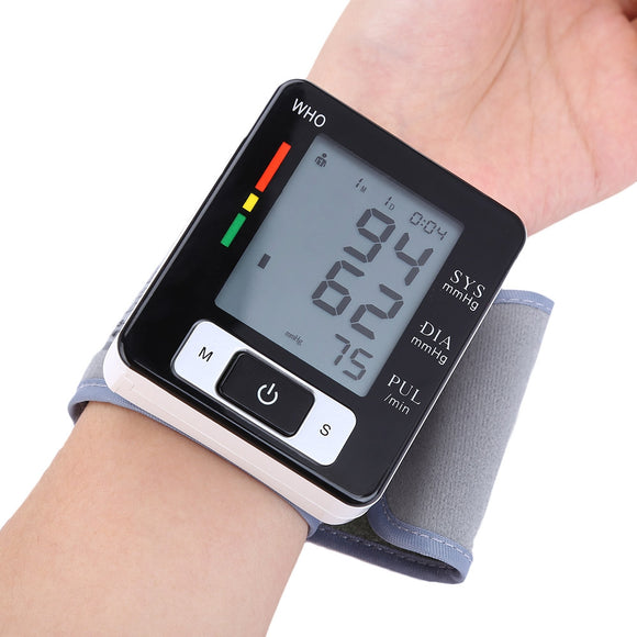 Wrist Blood Pressure Pulse Monitor Health Care Digital Sphygmomanometer