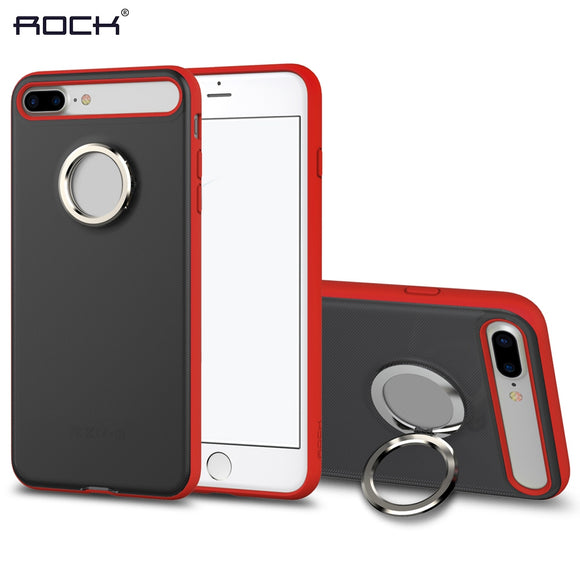 Magnetic Ring Kickstand Phone Case Protective Back Cover for iPhone 7 Plus