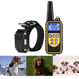 800m Waterproof Rechargeable Remote Control Dog Electric Training Collar - Trendeinblick.com