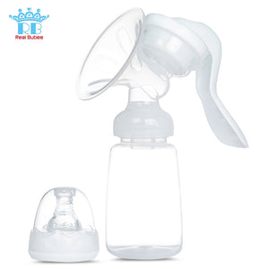 RealBubee Manual Breast Pump Baby Breastfeeding Milk Bottle