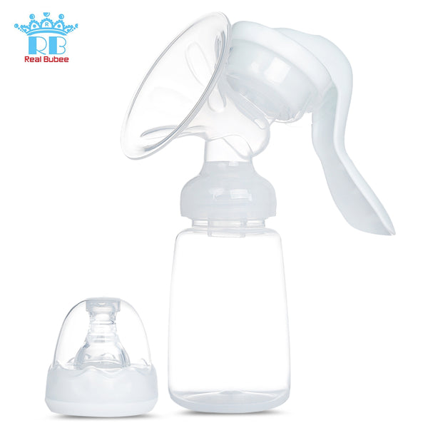 RealBubee Manual Breast Pump Baby Breastfeeding Milk Bottle - Trendeinblick Inc