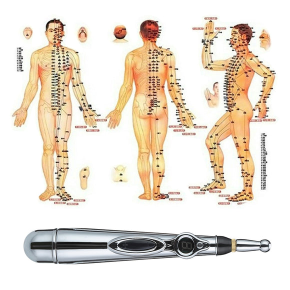 Electric Magnet Therapy Heal Massage Meridian Energy Pen