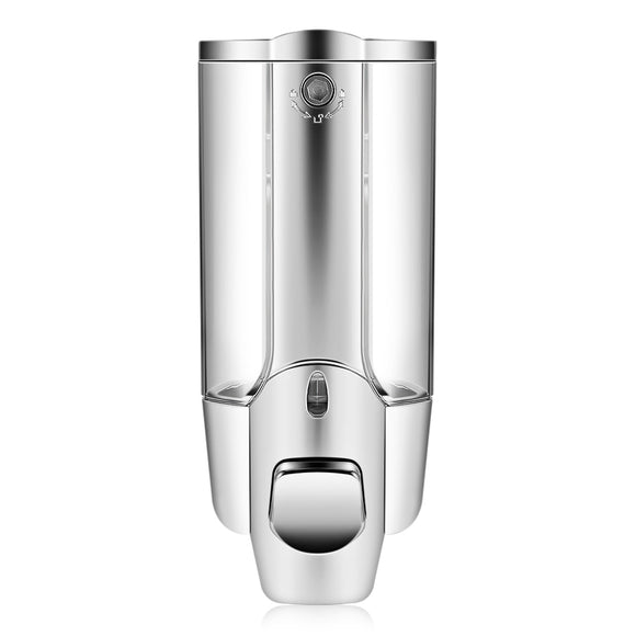 350ml Kitchen Bathroom Single Head Soap Dispenser with a Lock ABS Plastic Liquid Shampoo Vessel