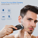 Electric Rechargeable Shaver Wet Dry Rotary Razor for Men - Trendeinblick Inc