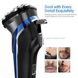 Electric Rechargeable Shaver Wet Dry Rotary Razor for Men