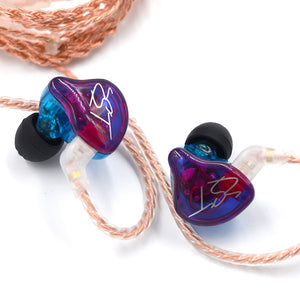 KZ ZST PRO Wired Earbuds On-cord Control Noise-canceling In-ear Earphones without Mic