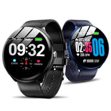 Heart Rate / Blood Oxygen Monitoring / Breathing Light / Tempered Glass Leather Smart Watch - Trendeinblick.com