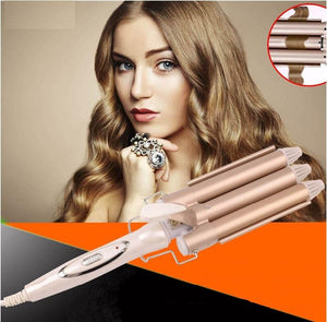 Professional 3 Barrels Big Waver Curling Ceramic Iron - Trendeinblick.com