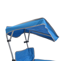 Kids Shade Folding Chair - Blue/Silver