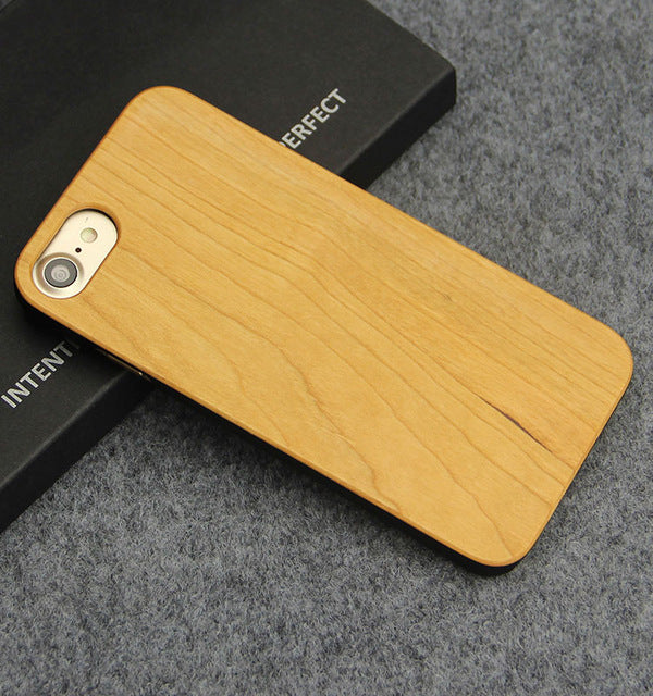 Ultra Thin Natural Bamboo Wooden Phone Case - Trendeinblick Inc