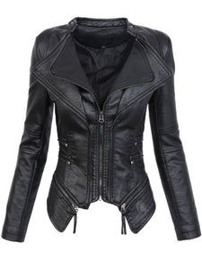 Gothic  Faux Leather Jacket - Trendeinblick.com