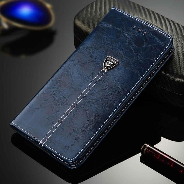 Luxury Flip Leather Phone Case For iPhone - Trendeinblick Inc