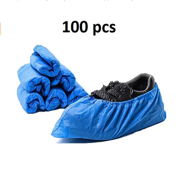 100 Pcs Industrial Waterproof  Disposable Blue Shoe Covers - Trendeinblick.com