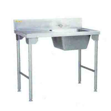 Single Bowl Sink Right 1100mm  0.9 mm 430 S/S With Mild Steel Legs Titan SDSN1003O7 | sink | wedoall.co.za