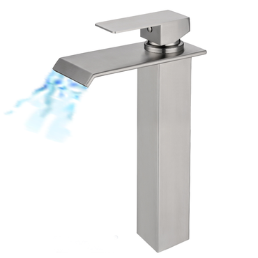 Single Lever Tall Wide Spout Basin Mixer S/Steel SSF-22