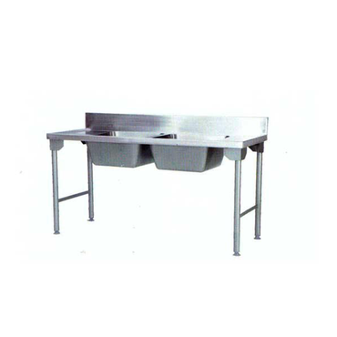 Double Bowl Sink 1600mm Mild Steel Legs Centre SDSN9010O7