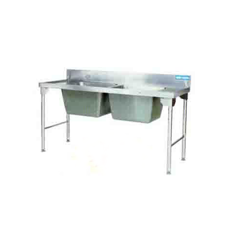 Double Pot Sink 1800mm S/Steel Legs EZWH1023O7 | Sink Double Pot S/Steel Legs | wedoall.co.za