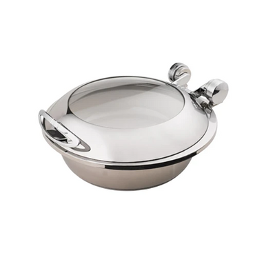 CHAFER INDUCTION ROUND 'SMART W' WITH GLASS LID - 18/10 S/STEEL 440 x 490 x 195mm 6.5Lt CIR2065 | wedoall-co-za.myshopify.com