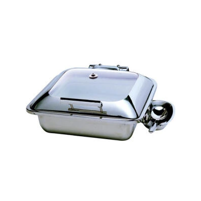 CHAFER INDUCTION SQUARE 'SMART' WITH GLASS LID 18/10 S/STEEL (EXCLUDES SPOON) 453 x 407 x 195mm 5.5Lt CIS0055