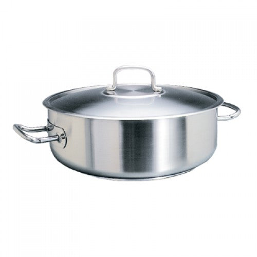 POT S/STEEL LOW CASSEROLE -  8LT | wedoall-co-za.myshopify.com