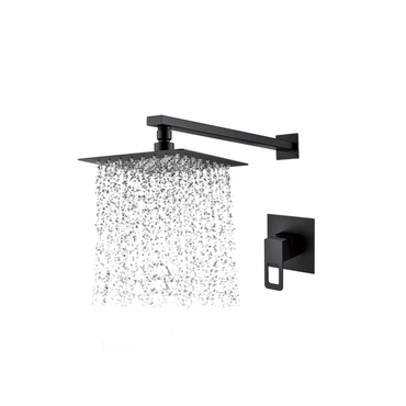 Square Shower Head, Arm & Mixer set – Matt Black MBS-2