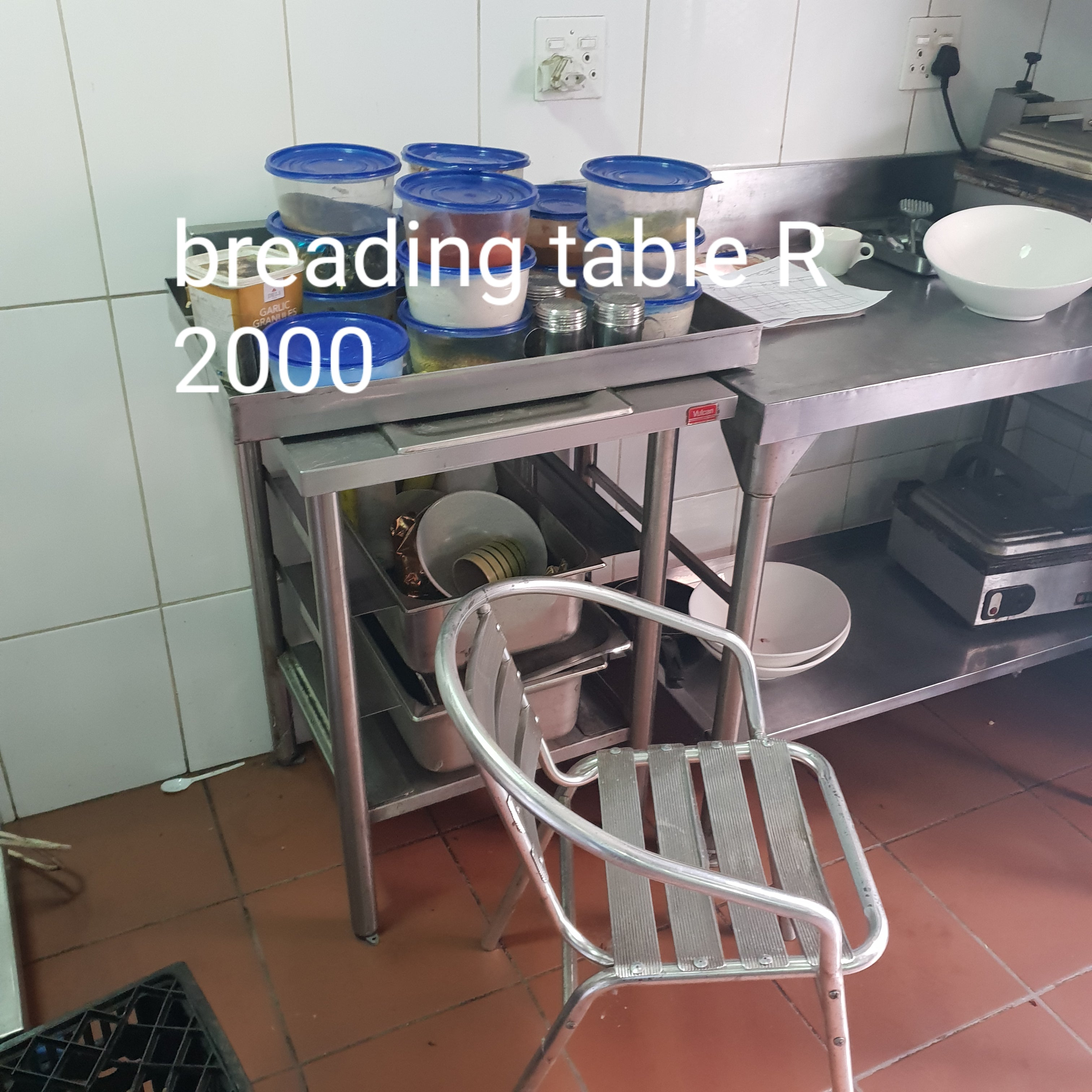 Breading Table used