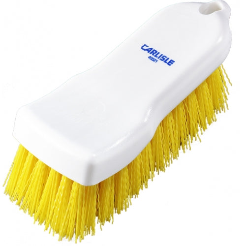 Hand Scrub Brush - Polyester - 150mm - Yellow Carlisle HSB5150