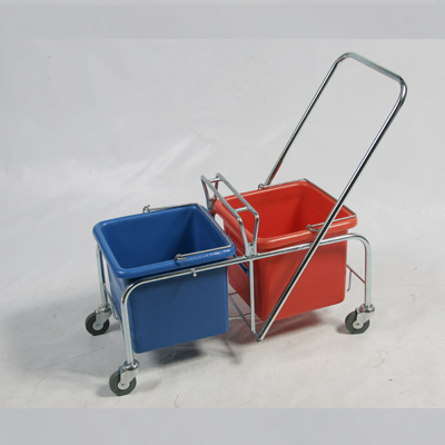 TROLLEY STEEL FRAME PLASTIC BUCKET 2X20L 12001SMC