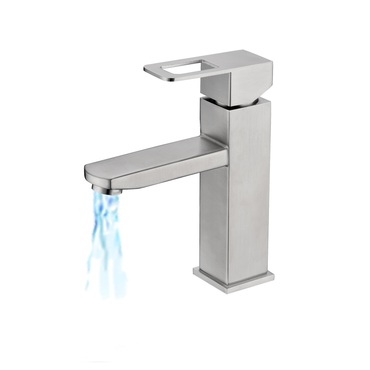 Single Lever Square Basin Mixer Brushed S/Steel SSF-3