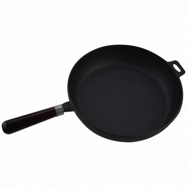 30.5CM CAST IRON FRYING PAN SMOOTH SURFACE 18/SM-30E | wedoall-co-za.myshopify.com