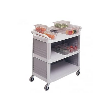 Bussing Clearing Trolley with plastic pans 2030-1 B | wedoall-co-za.myshopify.com