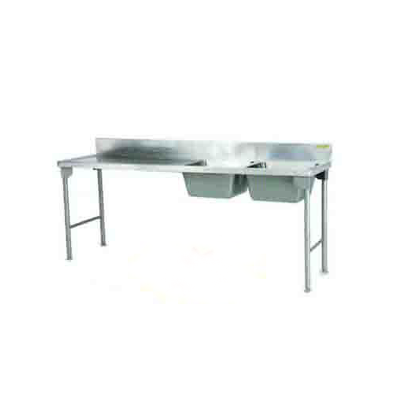 Double Bowl Sink 2300mm Mild Steel Legs Center SDSN1013O7 | Sink Double Bowl | wedoall.co.za