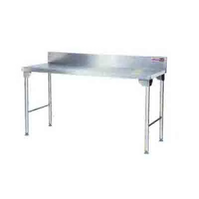 Splash Back Table 1700mm 1.0 mm 430 S/S Titan 1.0mm Stainless Steel Legs  SDTA2004O7 | Splash Back Table | wedoall.co.za