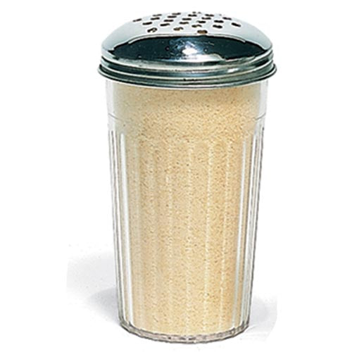 CHEESE SHAKER PLASTIC (CLEAR)S/STEEL LID CSP0001