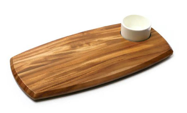 Serving board wooden with dip bowl 180 x 362 x 20mm Infiniti WSB1180