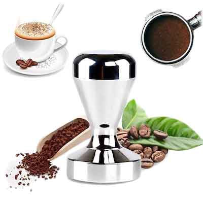 COFFEE TAMPER WITH CHROME PLATED 57mm - 720g