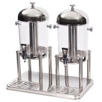 JUICE DISPENSER DOUBLE CONTEMP 550 x 340 x 540mm 7Lt x 2  JDS3002