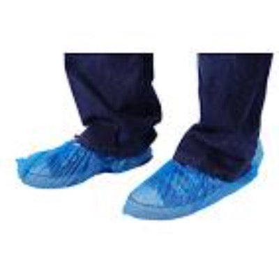 DISPOSABLE PLASTIC SHOE COVERS - BLUE PACK OF 100 UDS0001