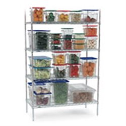 SHELVING UNIT CHROMED - 4-TIER - 1510 x 455 x 1830mm SUC1510