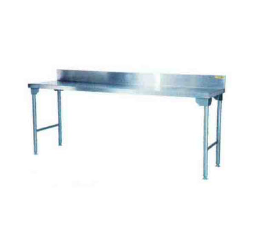 Splash Back Table 2300mm 0.7 mm 430 S/S With Mild Steel Legs Titan SDTA1005O7 | Splash Back Table | wedoall.co.za
